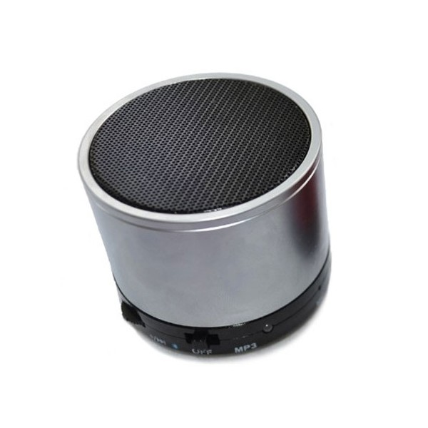 enceinte bluetooth minispeaker metal gris coquediscount. Black Bedroom Furniture Sets. Home Design Ideas