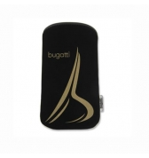 Slim Case Bugatti Soft Touch Neopren noir golden iPhone 3g 3gs