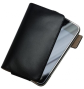 Clip Case etui cuir ceinture veritable noir iphone 3G/3GS 4/4S