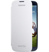 Etui &agrave; rabat Samsung EF-FI950W blanc pour Galaxy S4 I9500