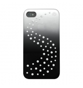 Bling My Thing Coque metallique Swarovski Milkyway argent iPhone 4 / 4S.