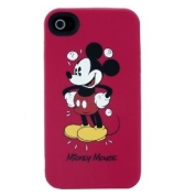 housse silicone mickey rouge iphone 4 4S