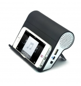 Haut-parleur amplificateur de son noir pour iPhone / Samsung  / Nokia / HTC / MP4, MP5