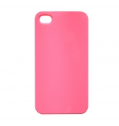 Coque rigide rose fluo pour iPhone 4 et 4S