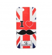 Coque rigide I love moustache Angleterre pour iPhone 5