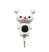 Amplificateur de son ourson blanc mini jack 3.5mm