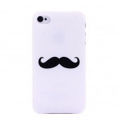 Coque blanche Moustache iPhone 4 4S