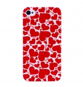 Coque coeurs rouges love  iPhone 4 4S