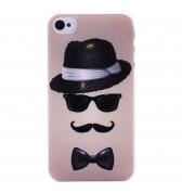 Coque lunette moustache iPhone 4 4S