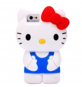 coque silicone Hello Kitty Bleue pour iphone 5