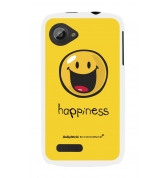 Coque motif Smiley Happiness by Moxie rubber blanc pour Wiko Cink Slim
