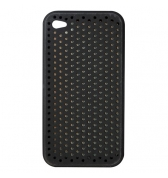 Housse silicone Noire perfor&eacute; iPhone 4 