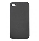 Housse silicone Noir mat iPhone 4 