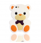 Coque ourson silicone blanc pour iPhone 5 / 5S
