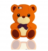 Coque ourson silicone marron pour iPhone 5 / 5S
