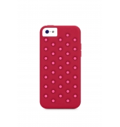 XDORIA COQUE PROTECTION SILICONE SPOTS ROSES APPLE IPHONE 5C
