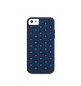 XDORIA COQUE PROTECTION SILICONE  SPOTS BLEUES APPLE IPHONE 5C