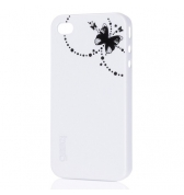 Gear4 coque blanche thin ice papillon iPhone 4