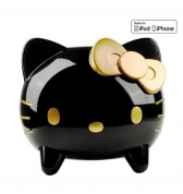 Enceinte Hi Fi Hello Kitty noir et or avec dock de charge iPhone 4 4S iPhone 3g 3gs iPod