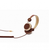 Casque audio Hello Kitty beige et chocolat jack 3.5mm