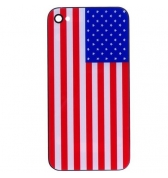 Vitre arriere drapeau USA iPhone 4S