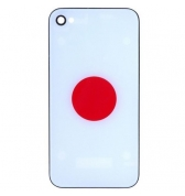 Vitre arriere drapeau Japon iPhone 4