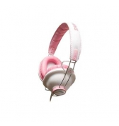 Casque stereo ferme Ifrogz Throw Bax rose metallise