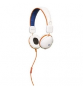 Casque Blanc et orange en cuir Bluevibes Slim IN2
