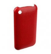 COQUE ROUGE LEZARD POUR IPHONE 3G 3GS