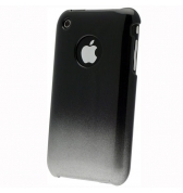Coque iphone 3g 3gs noire et grise m&eacute;tallis&eacute;e