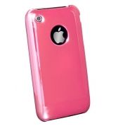Coque rose miroir iPhone 3G/3GS Muvit + film ecran offert
