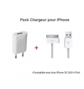 Chargeur plus cable data compatible pour iPhone / iPod