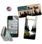 Kit protection et déco New York City pour iPhone 4/4S